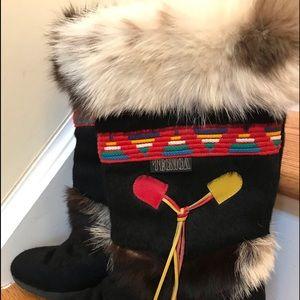 Technica Skandia Apes  goat skin fur boot size 7.5